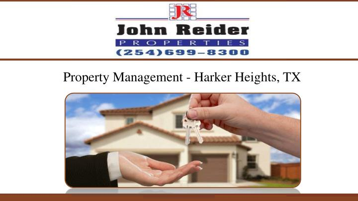 Property Management - Harker Heights, TX