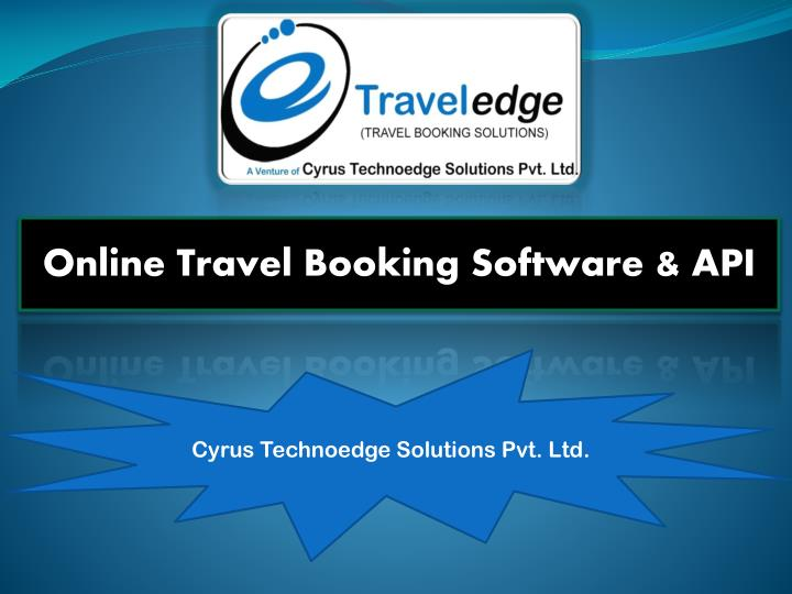 Online Travel Booking Software & API