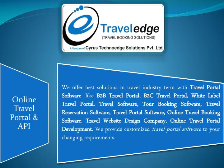 Travel booking software cyrus recharge