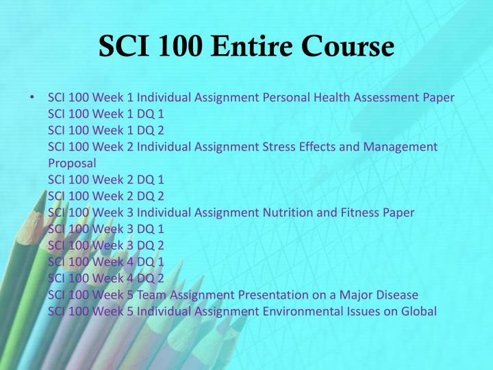 SCI 100