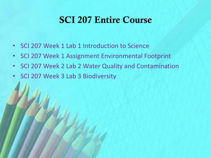 SCI 207 Entire Course