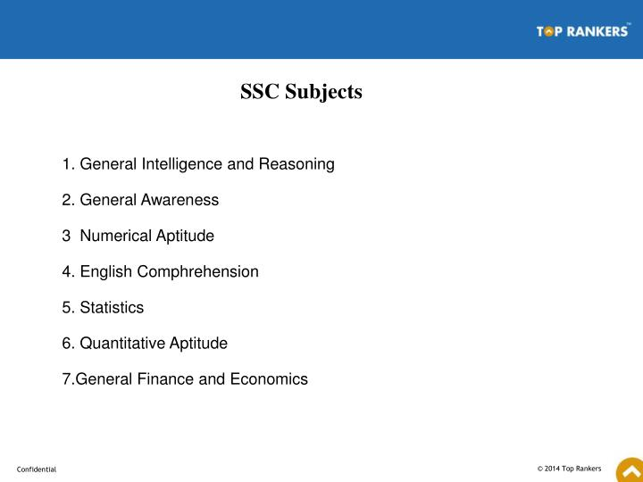 SSC Subjects