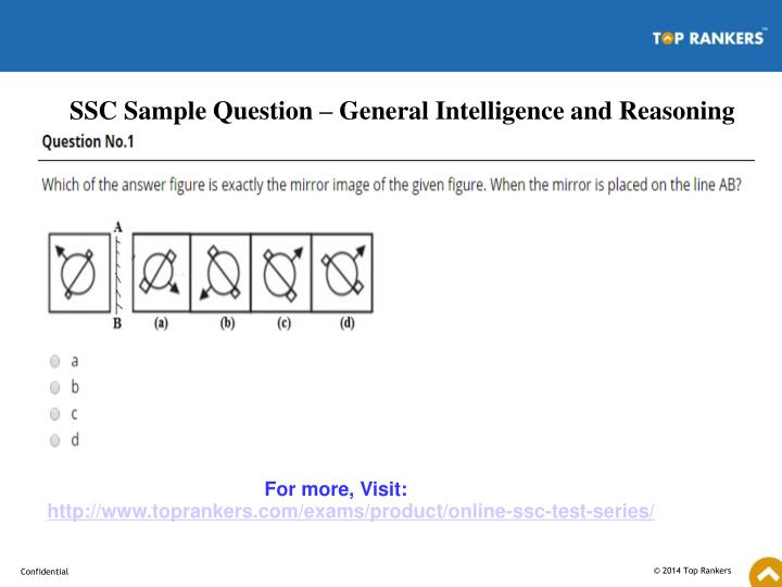 SSC Sample Question – General Intelligence and Reasoning