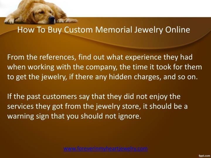 How To Buy Custom Memorial Jewelry Online