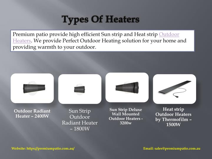 Types Of Heaters