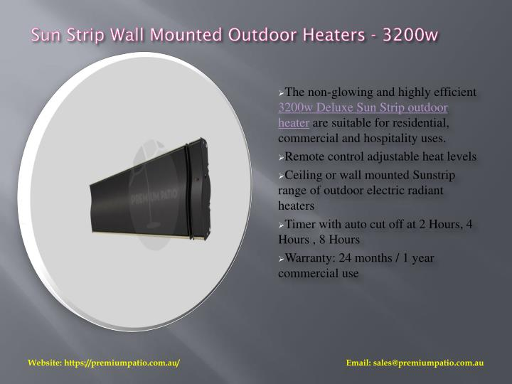 Sun Strip Wall Mounted Outdoor Heaters - 3200w