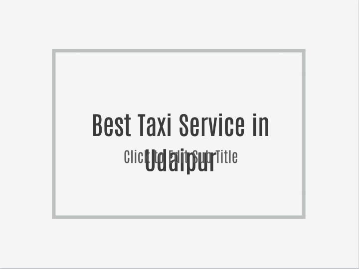Best Taxi Service in