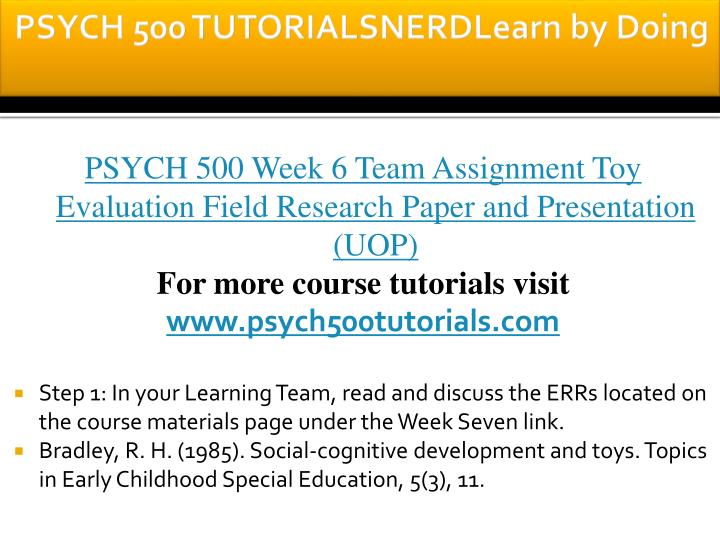 PSYCH 500
