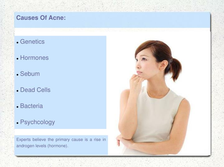 Causes Of Acne: