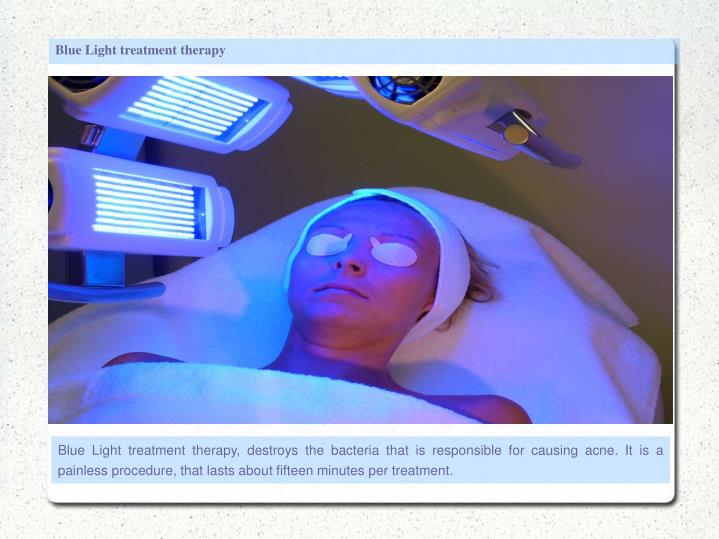 Blue Light treatment therapy