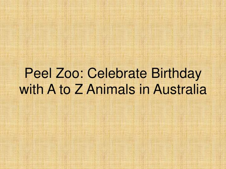 Peel zoo celebrate birthday with a to z animals in australia