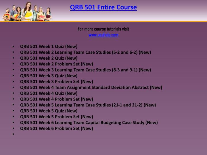 Qrb 501 entire course