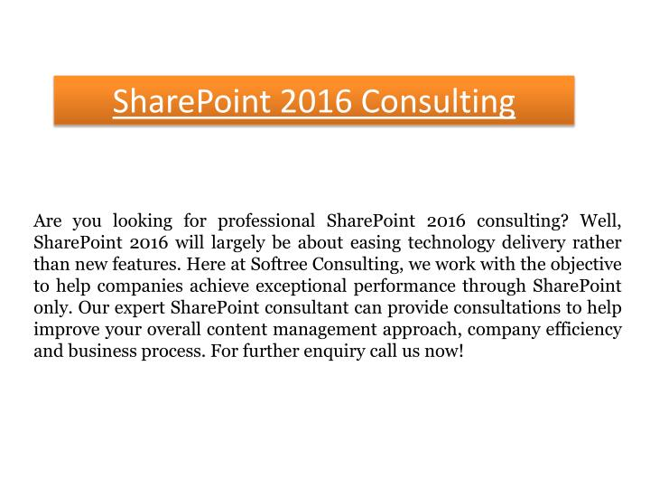 Sharepoint 2016 consulting