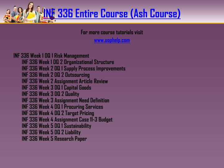 INF 336 Entire Course (Ash Course)