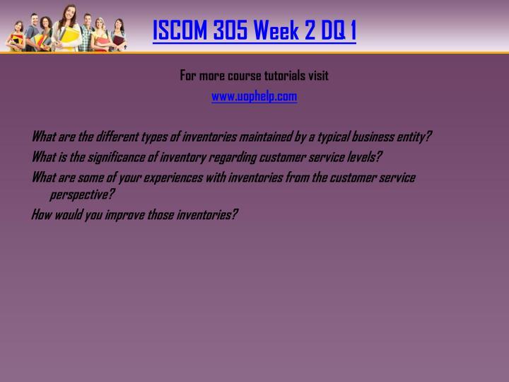 ISCOM 305 Week 2 DQ 1