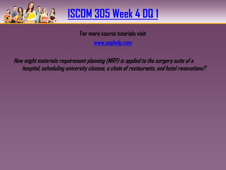ISCOM 305 Week 4 DQ 1