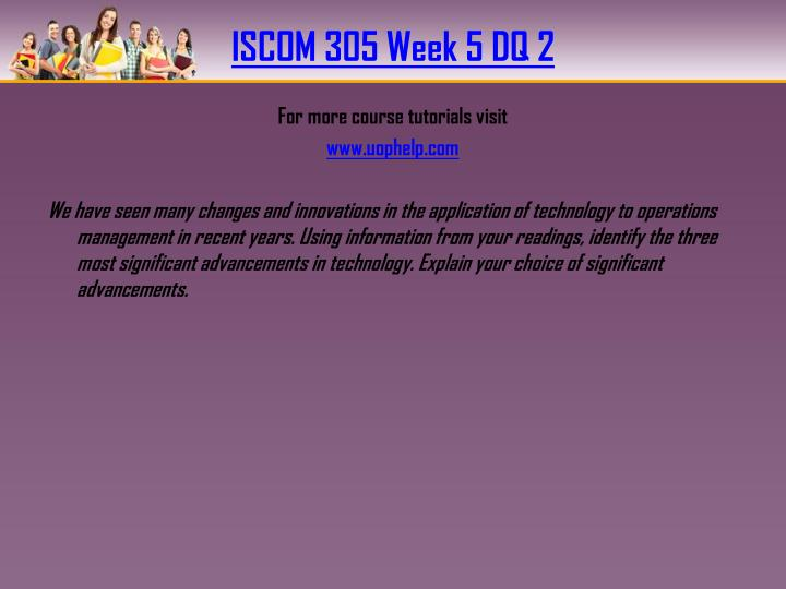 ISCOM 305 Week 5 DQ 2