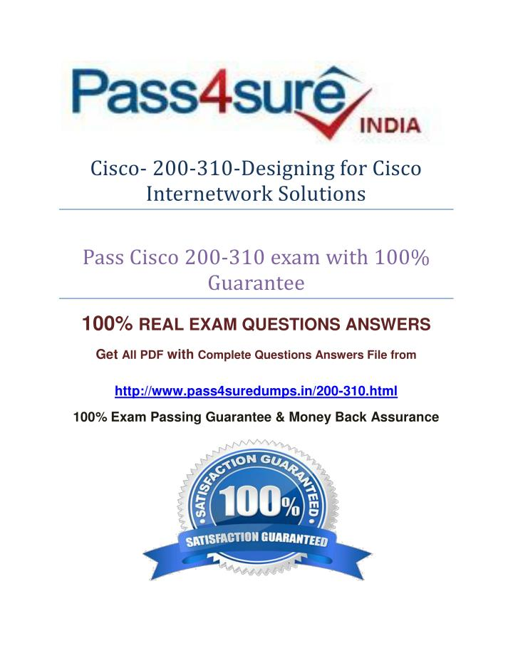 Cisco- 200-310-Designing for Cisco