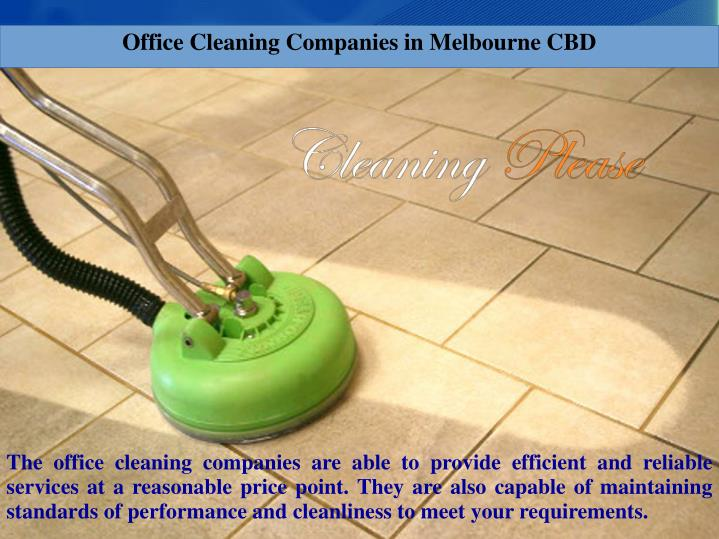 Office Cleaning Companies in Melbourne CBD