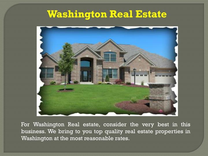 Washington Real Estate