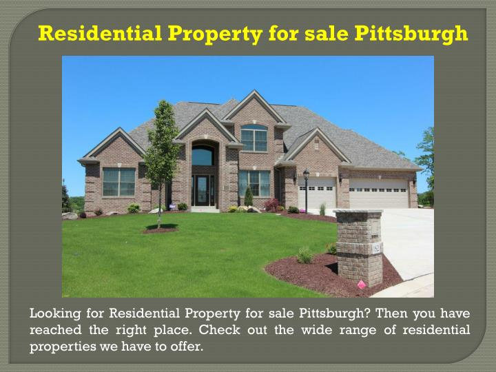 Residential Property for sale Pittsburgh