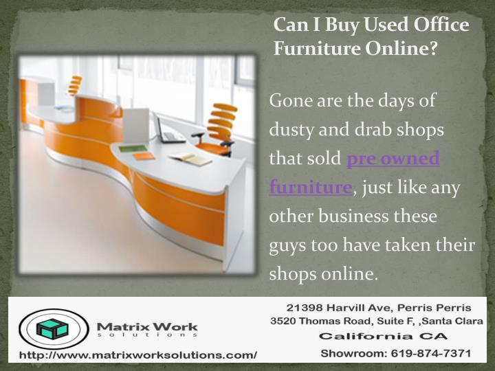 Can i buy used office furniture online