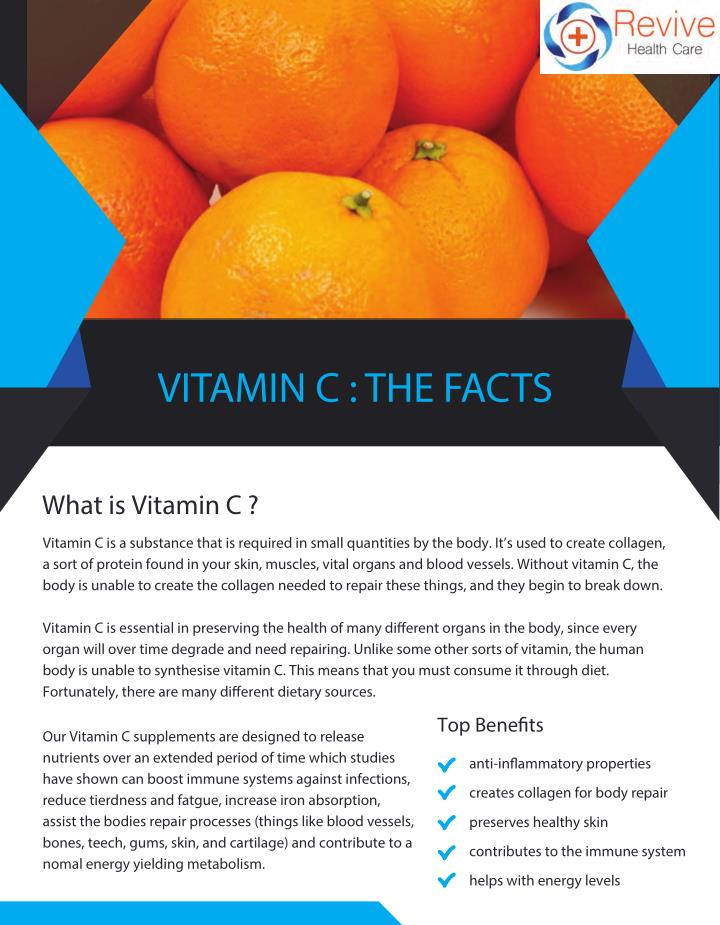 VITAMIN C : THE FACTS
