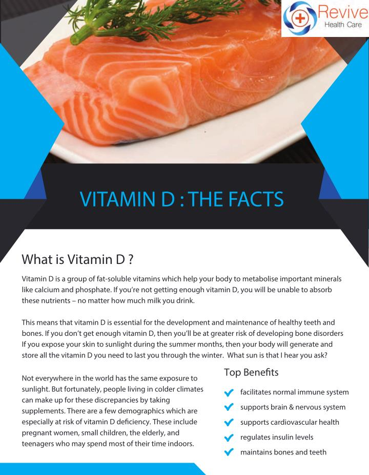 VITAMIN D : THE FACTS