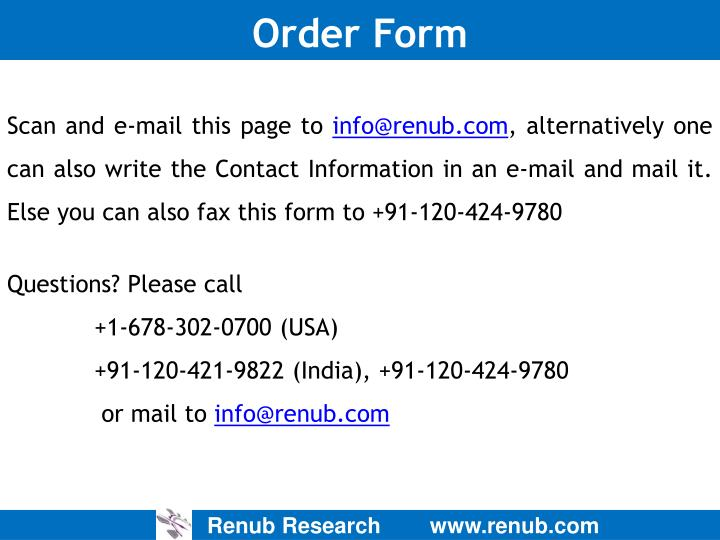 Order Form