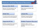 features of excel password recovery