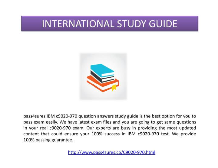 INTERNATIONAL STUDY GUIDE