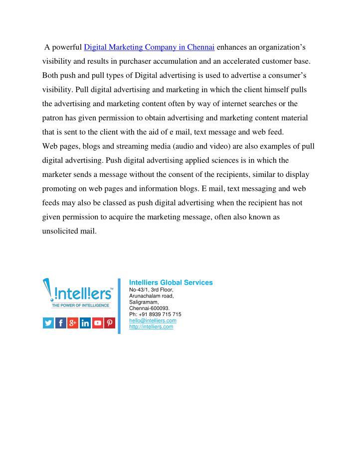 A powerful Digital Marketing Company in Chennai