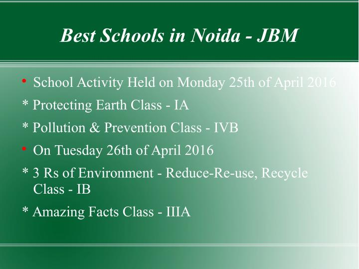 Best Schools in Noida - JBM