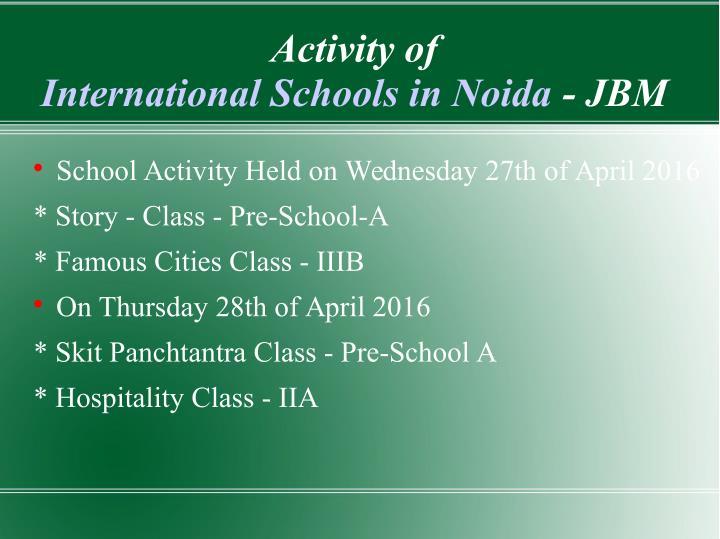 Activity of