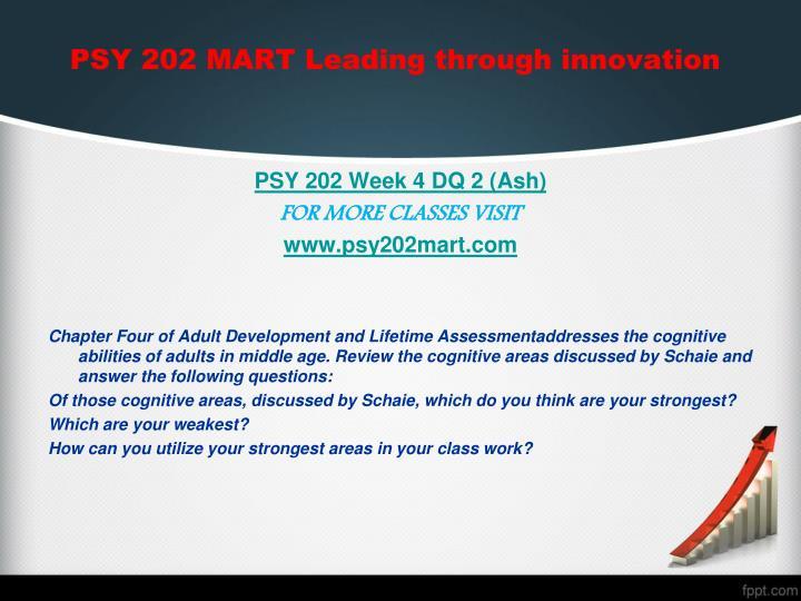 PSY 202 MART Leading through innovation