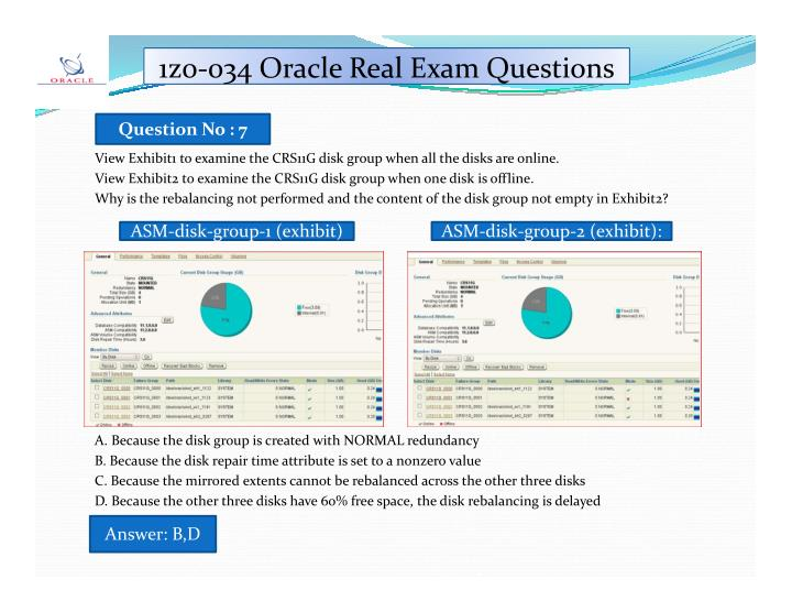 1z0-034 Oracle Real Exam Questions