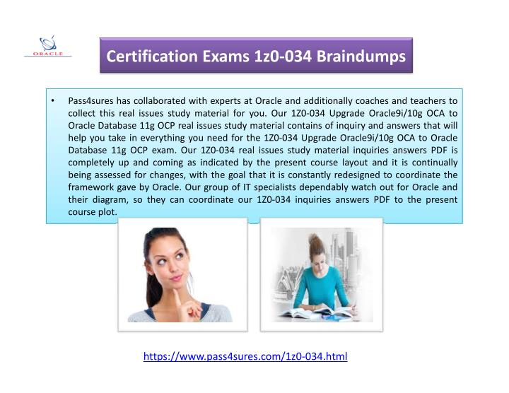 Certification Exams 1z0-034 Braindumps