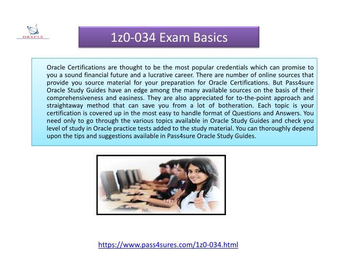 1z0-034 Exam Basics