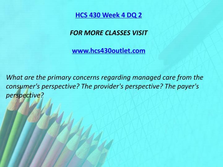 HCS 430 Week 4 DQ