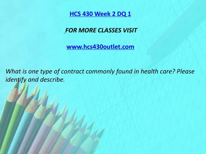 HCS 430 Week 2 DQ