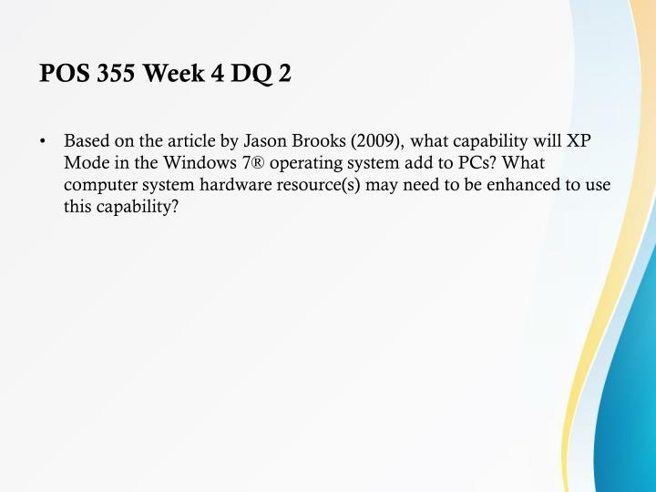 POS 355 Week 4 DQ 2