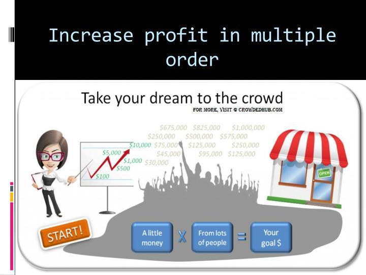 Increase profit in multiple order
