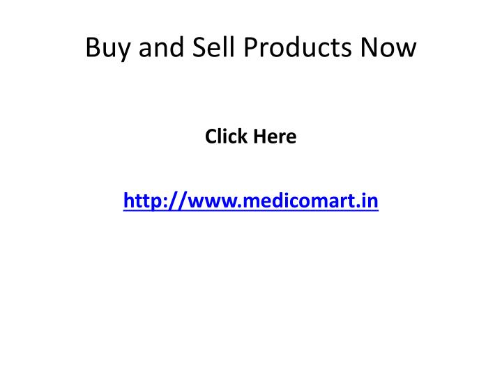Buy and Sell Products Now