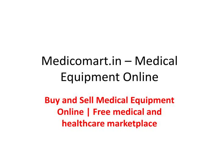 Medicomart in medical equipment online