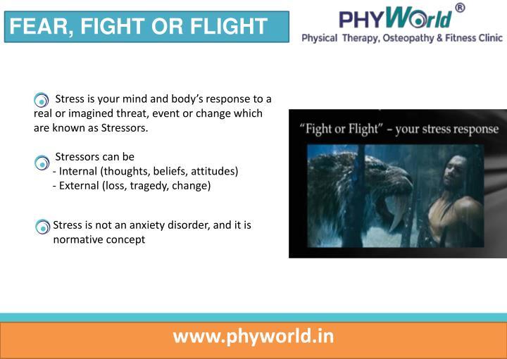 FEAR, FIGHT OR FLIGHT