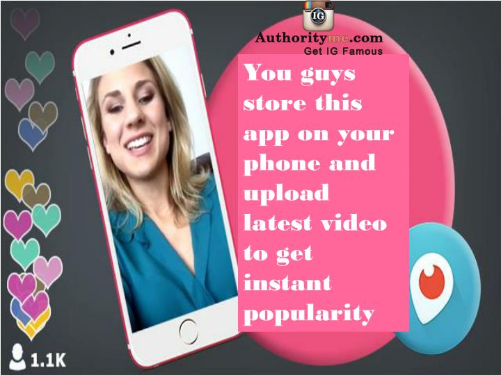 You guys store this app on your phone and upload latest video to get instant popularity