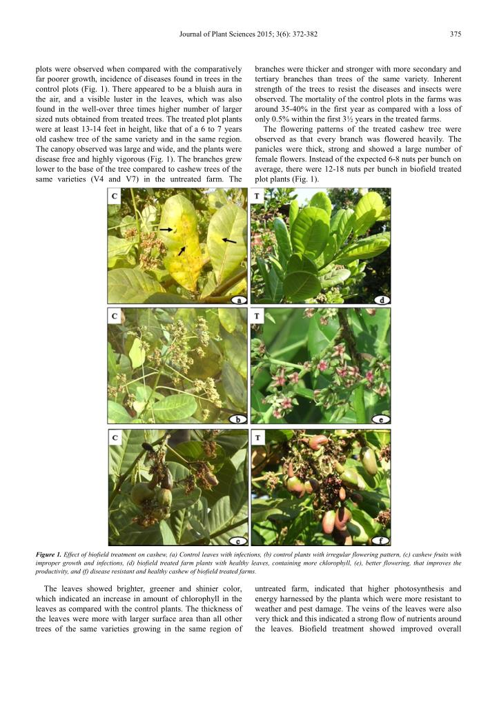 Journal of Plant Sciences 2015; 3(6): 372-382