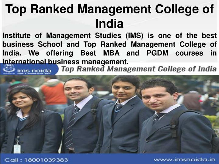 Top Ranked Management College of India