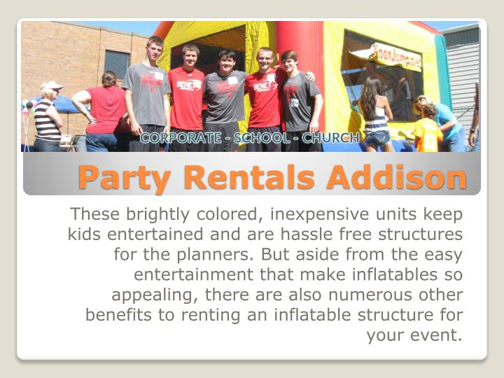 Party rentals addison