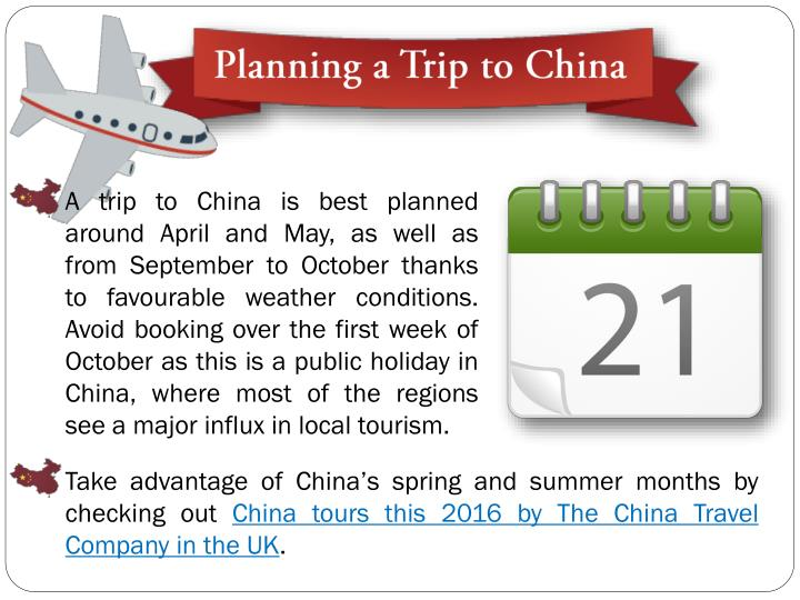Planning a trip to china